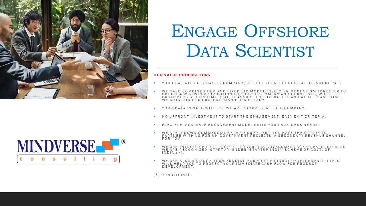 Engage Offshore Data Scientist