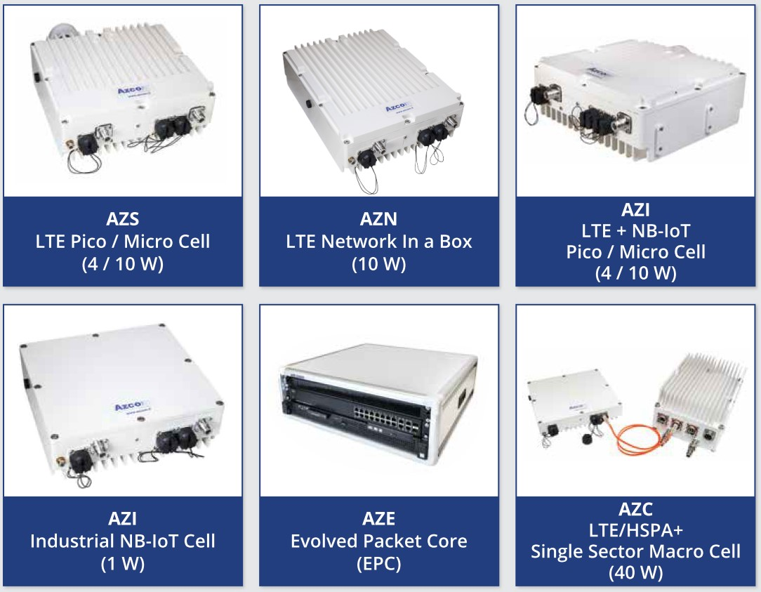 Azcom Technology 4G/NB-IoT Solutions for Private LTE